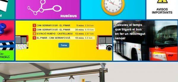Javajan. Mòdul per consultar en temps real l'estat del bus de Rubí