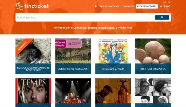 Javajan. Tincticket, plataforma de venda d'entrades on-line