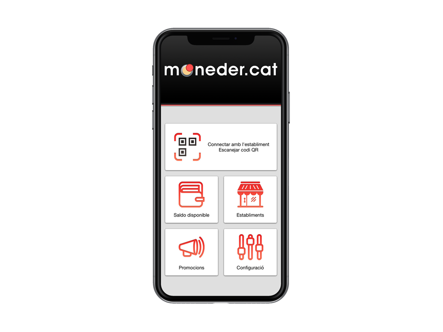 Aplicació mòbil per la plataforma de fidelització Moneder
