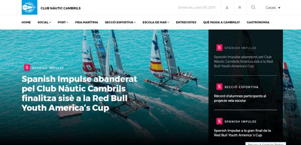 Javajan. Creació d'una revista on-line pel Club Nàutic de Cambrils