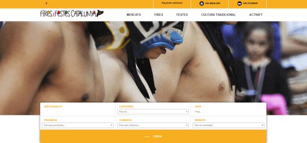 Javajan. Creació d'una web per Fires i Festes de Catalunya