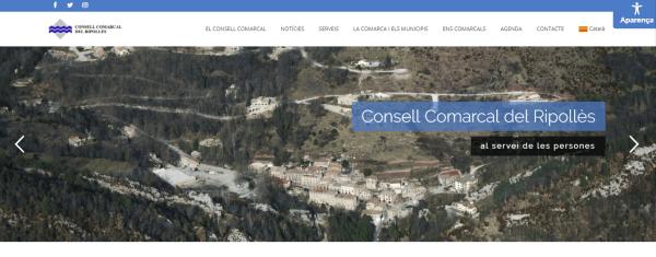 Javajan. Nova web pel Consell Comarcal del Ripollès