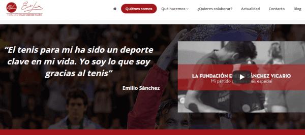Javajan. Nova web per la Fundación Emilio Sánchez Vicario