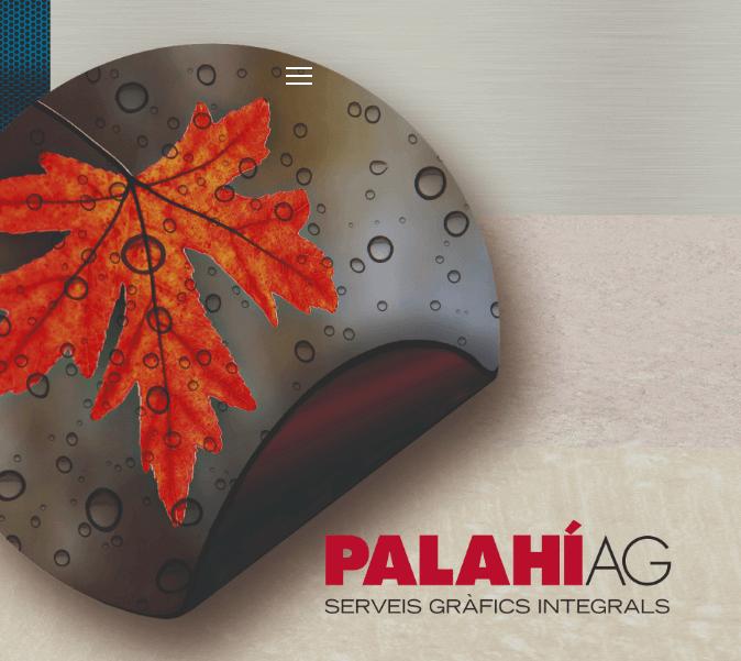 Creació d'una landing page per Palahi