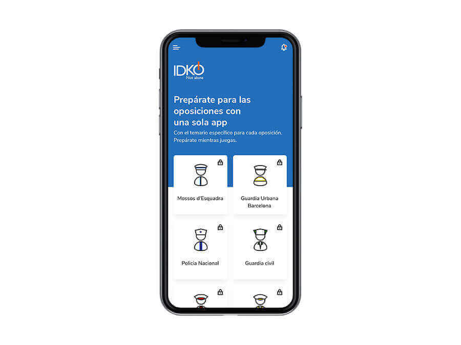 Creació d'una App per la preparació d'oposicions